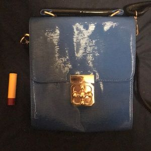 Bright blue crossbody bag